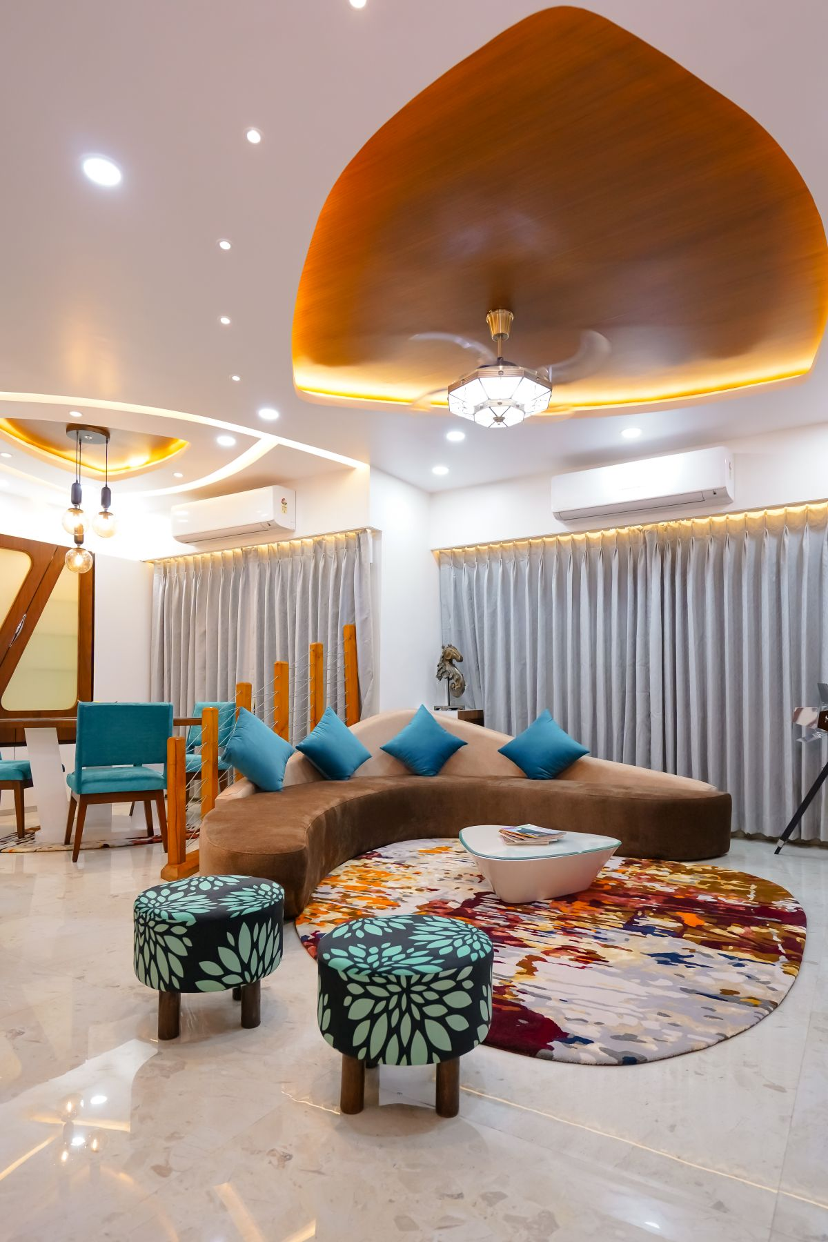 Amit Nagdive Residence at Capitol Heights, Nagpur by FANP Design Studio 1