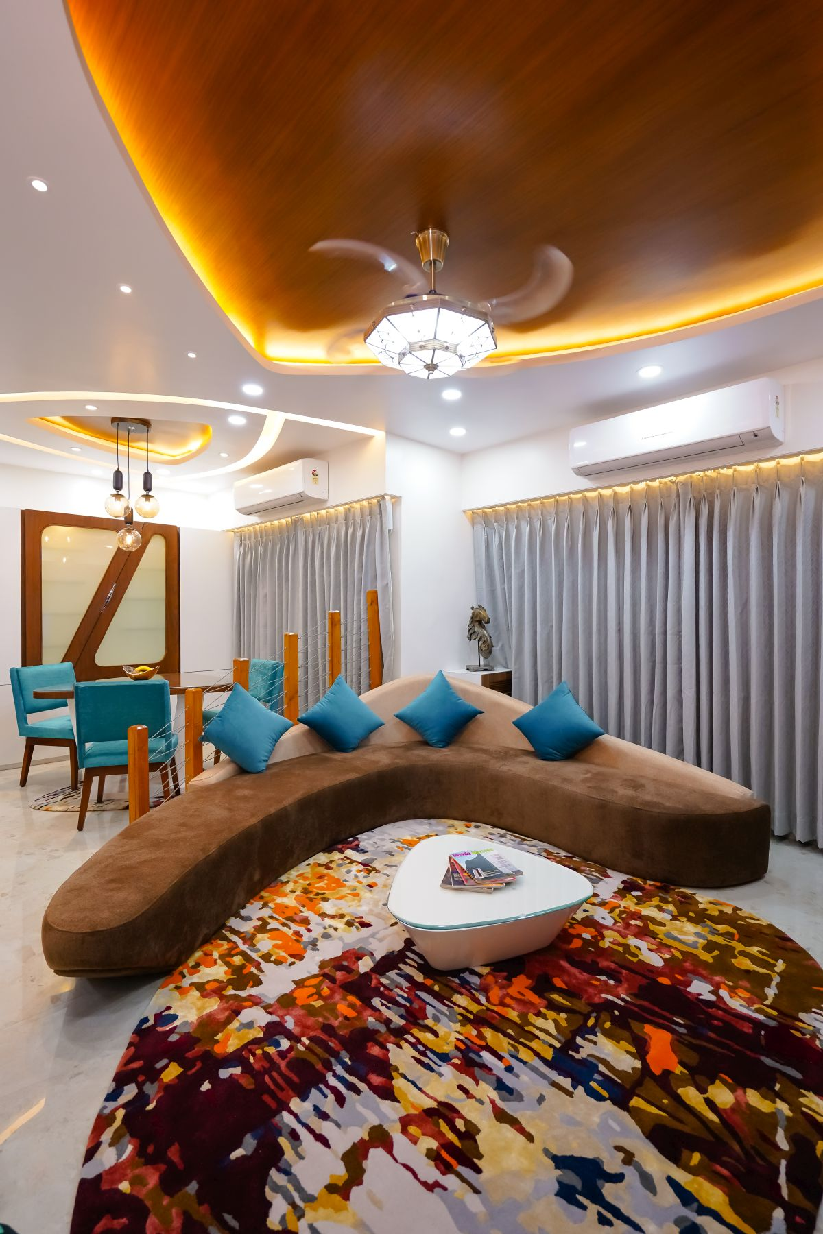 Amit Nagdive Residence at Capitol Heights, Nagpur by FANP Design Studio 9