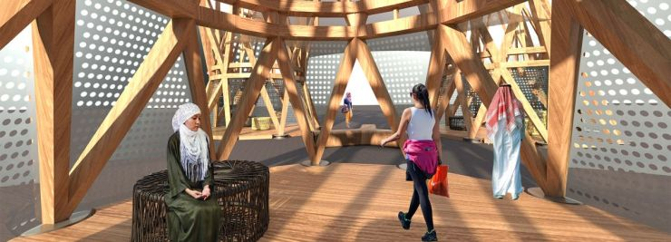 The Souk – Installation at the Dubai Design week, by Collaborative Architecture 2