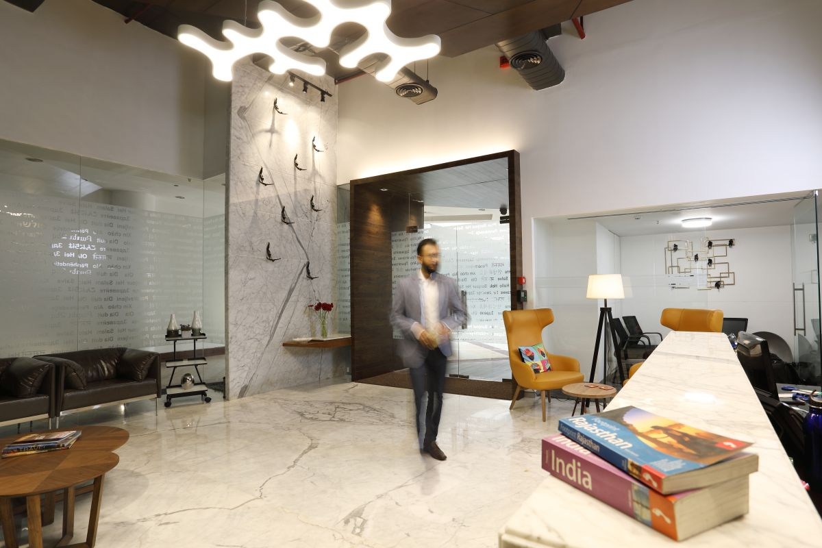 Contemporary Corporate Office, at Gurugram, Haryana, by Parag Singal Architects 4