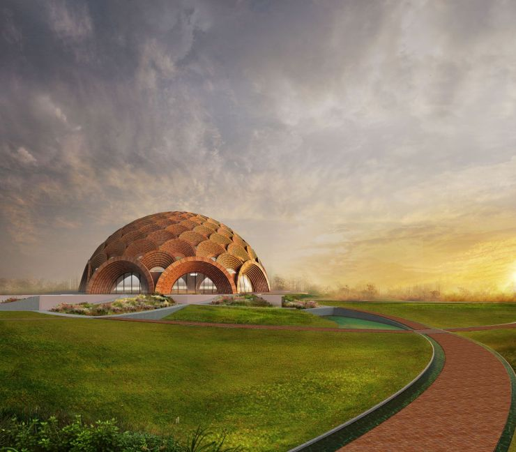 Baha'I Temple at Bihar, an award winning proposal by Spacematters 4