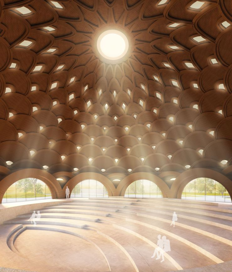 Baha'I Temple at Bihar, an award winning proposal by Spacematters 6