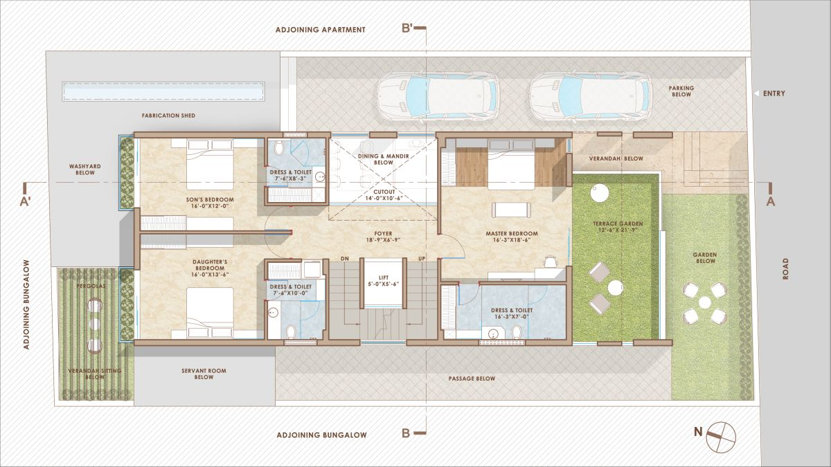 The Shaded House, at Ahmedabad, by Shayona Consultant 30