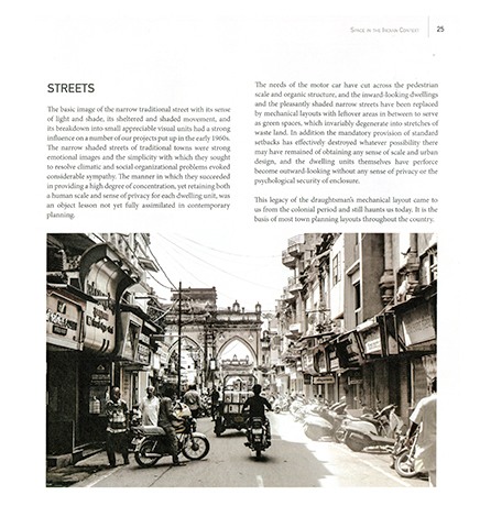 """A Sense of Space: This book is an invitation to liberate oneself from the valorised image of western or imperial city planning towards a more nuanced, indigenous, and flexible approach to our cities."" Sudipto Ghosh Reviews A Sense of Space, by Ranjit Sabikhi 6"