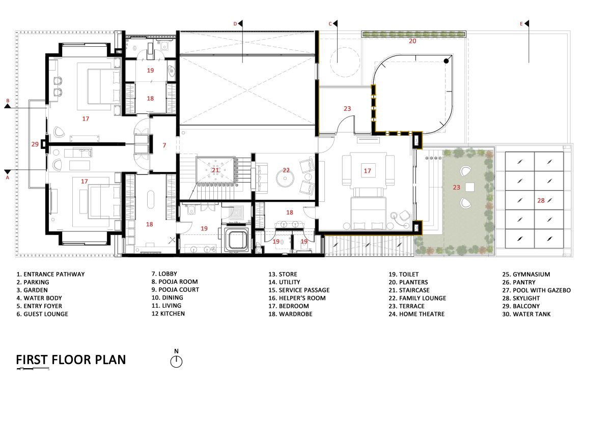 The Leaf House, at Indore, M.P, by Span Architects 92