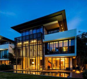 Cedar Villa, Embassy Boulevard, at Bangalore, by White Shadows Design Studio