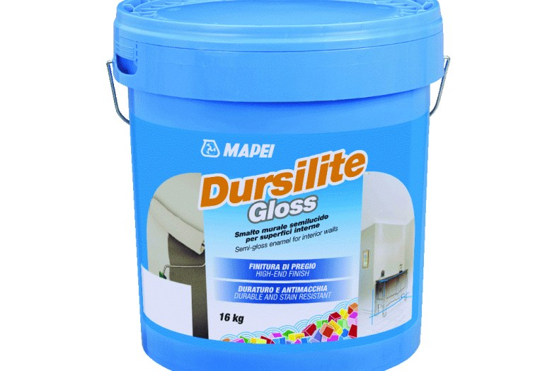 Glossy coat from Mapei's Dursilite