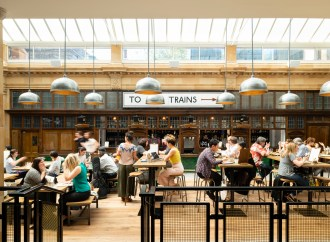 Market Hall Fulham by FaulknerBrowns provides community hub dedicated to home-grown food and drink