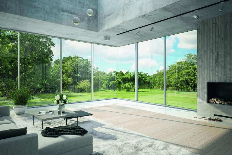 Latest version of Schueco Slimline Facade System has all-glass corner option
