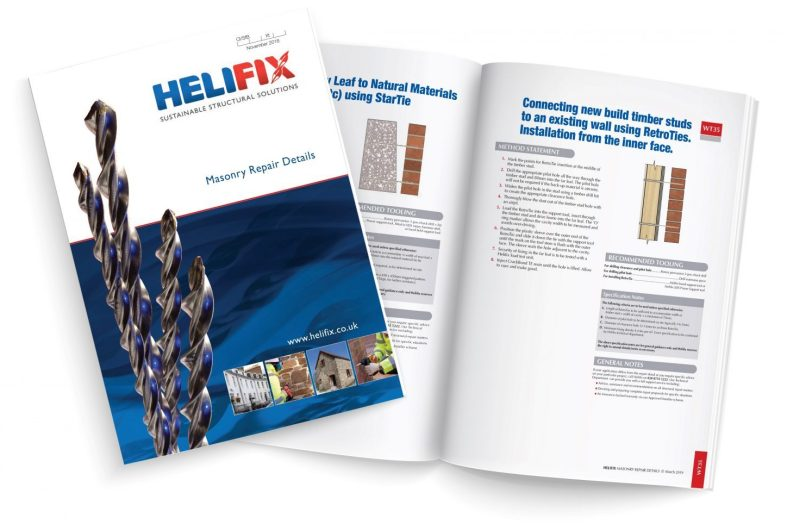Helifix adds three new Masonry Repair Details to their vast portfolio