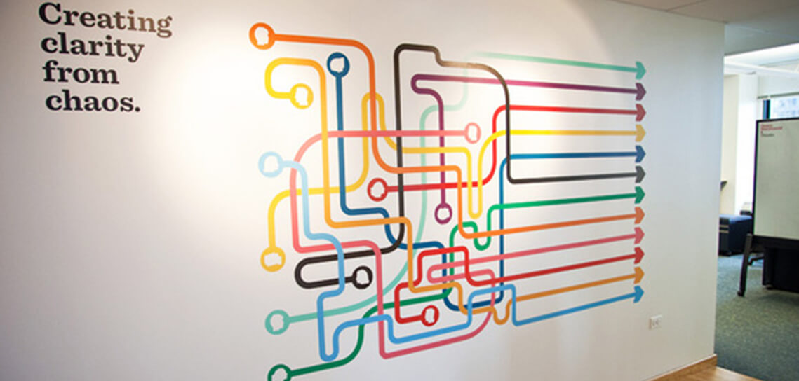 23 Creative Wall Decals Ideas For Office - 14 Is Most ... on Creative Wall Design Ideas  id=24102