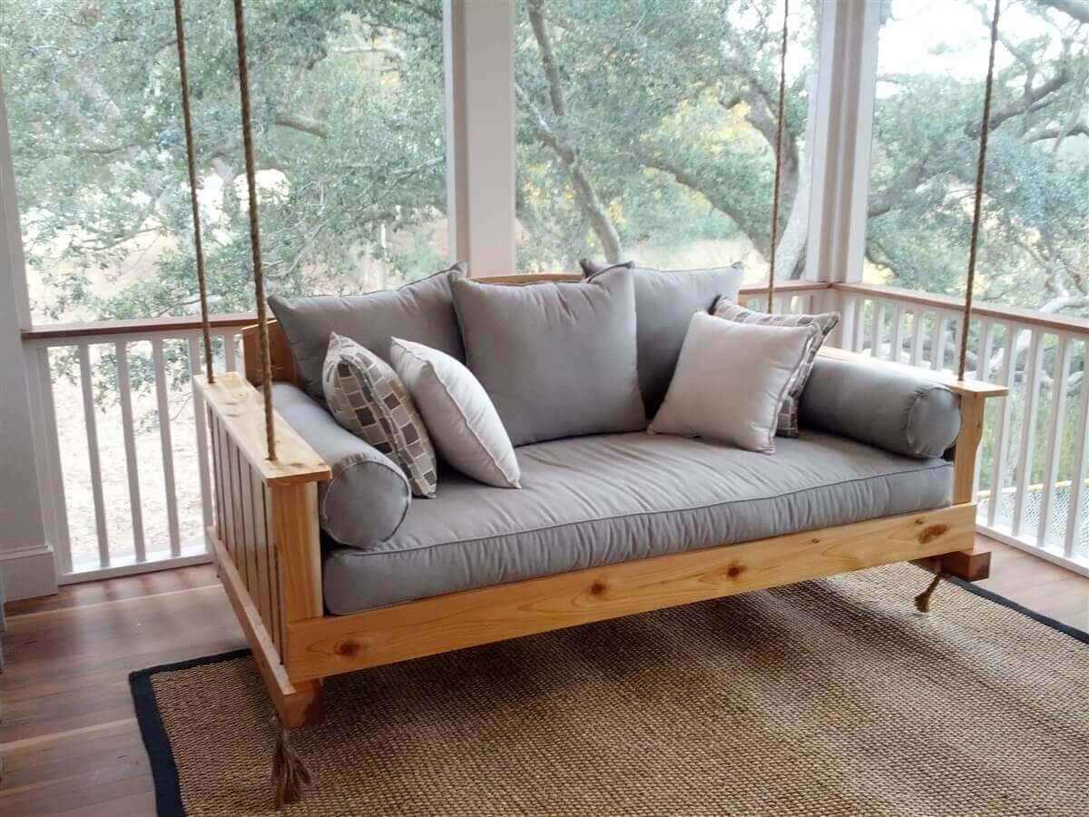 Excellent Outdoor Swing Bed Designs For Ultimate Relaxation on Belham Living Lilianna Outdoor Daybed id=27593