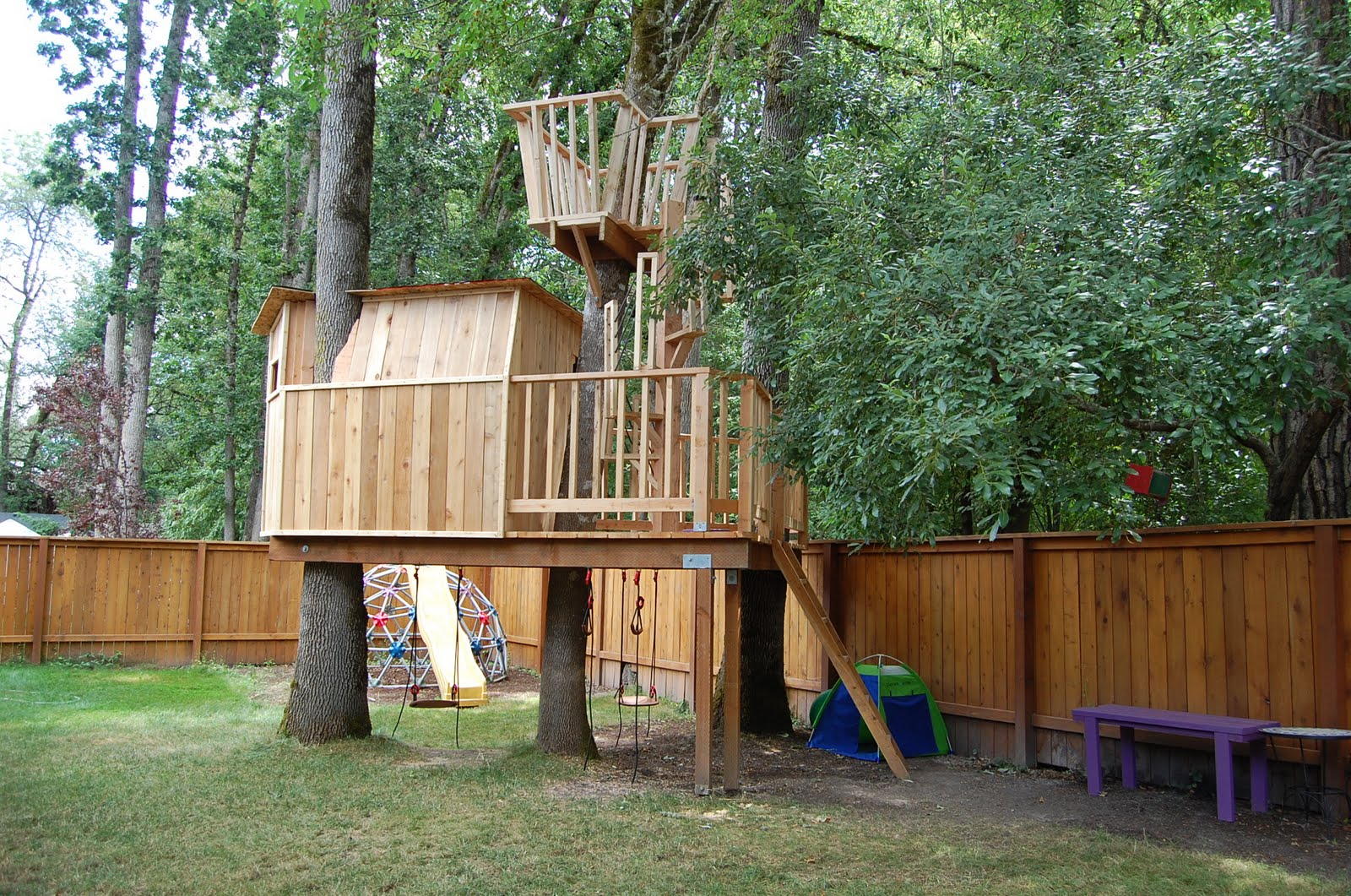 16 Luxury & Cool Tree House Designs That Forces You To Say ... on Backyard House Ideas id=62481
