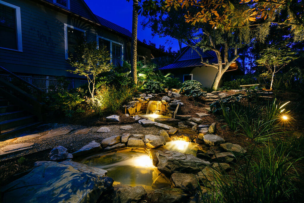 install landscape lighting to enhance