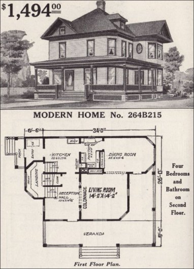 Queen Anne Style House Floor Plan