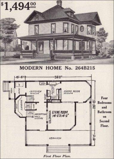 Queen Anne Style House Floor Plan