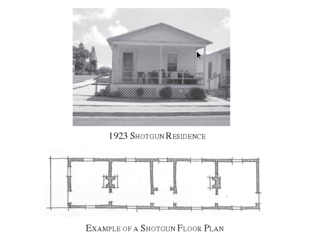 Bracket Shotgun style house Floor Plan
