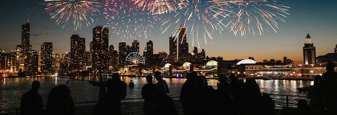 Chicago River Boat Fireworks Cruise Chicago River Boat Tours
