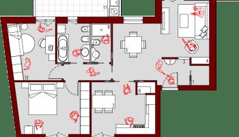 progetto 75 mq-Architettura a domicilio®