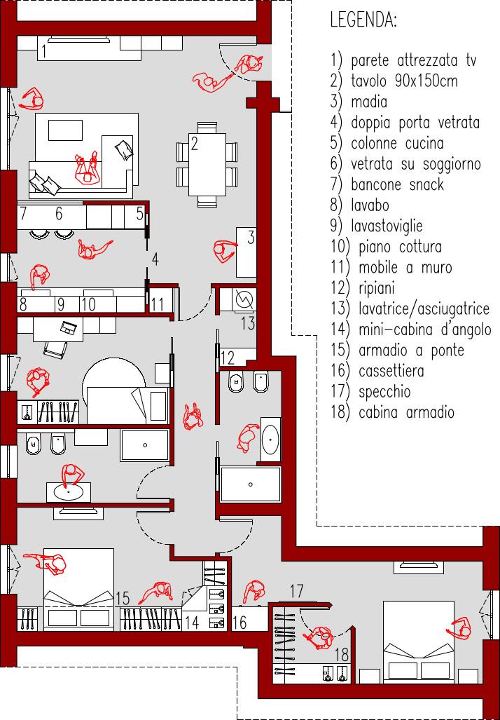 Progetto 100 Mq Architettura A Domicilio