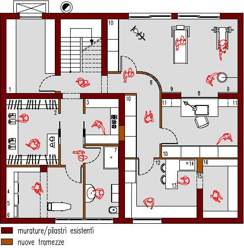 progetto-online-280-mq-palestra-tapis-roulant-sacco-boxe-planimetria-arredata-casa-indipendente-piano-interrato