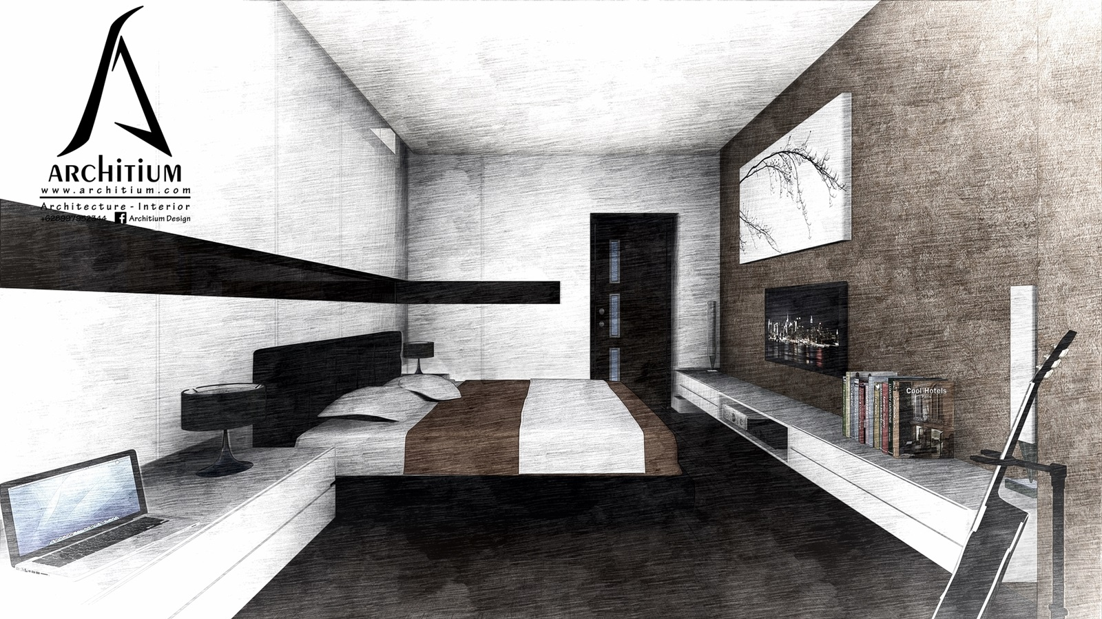 Interior-Apartment-Jakarta-Regatta-Bedroom A 2s