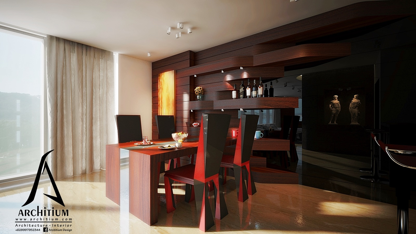 Interior-Apartment-Jakarta-Regatta-Living - Dining