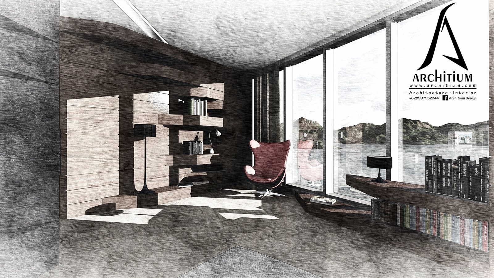 Interior-Apartment-Jakarta-Regatta-Living - Reading Sketch