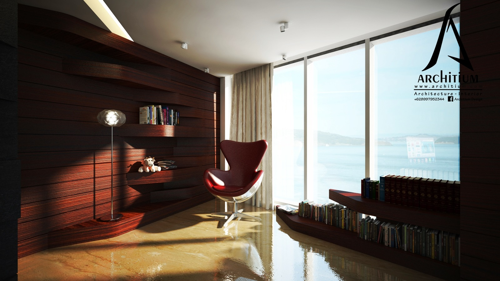 Interior-Apartment-Jakarta-Regatta-Living - Reading