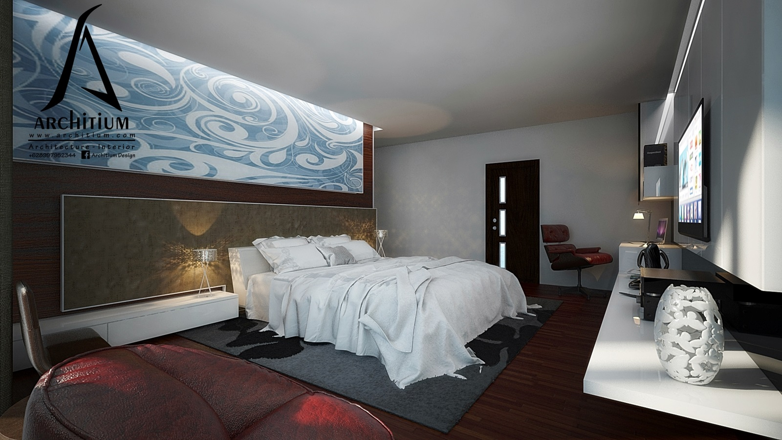 Interior-Apartment-Jakarta-Regatta-Master Bed 2