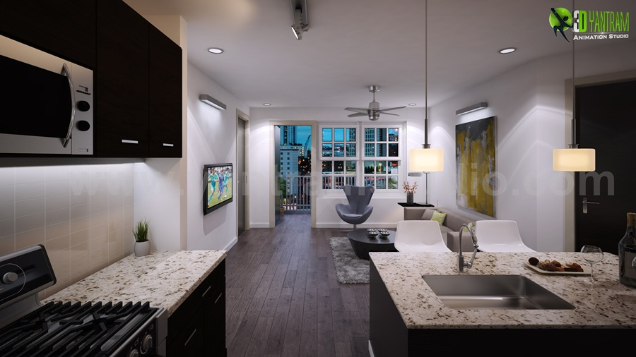 Dream house Kitchen Interior Rendering Tips and Tricks ... on Dream Home Interior  id=14754