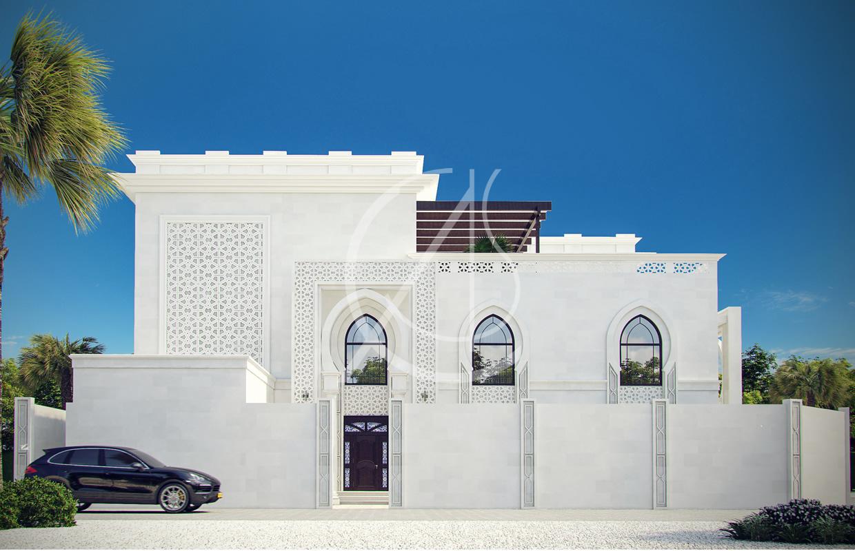 White Modern Islamic Villa Exterior Design Architizer