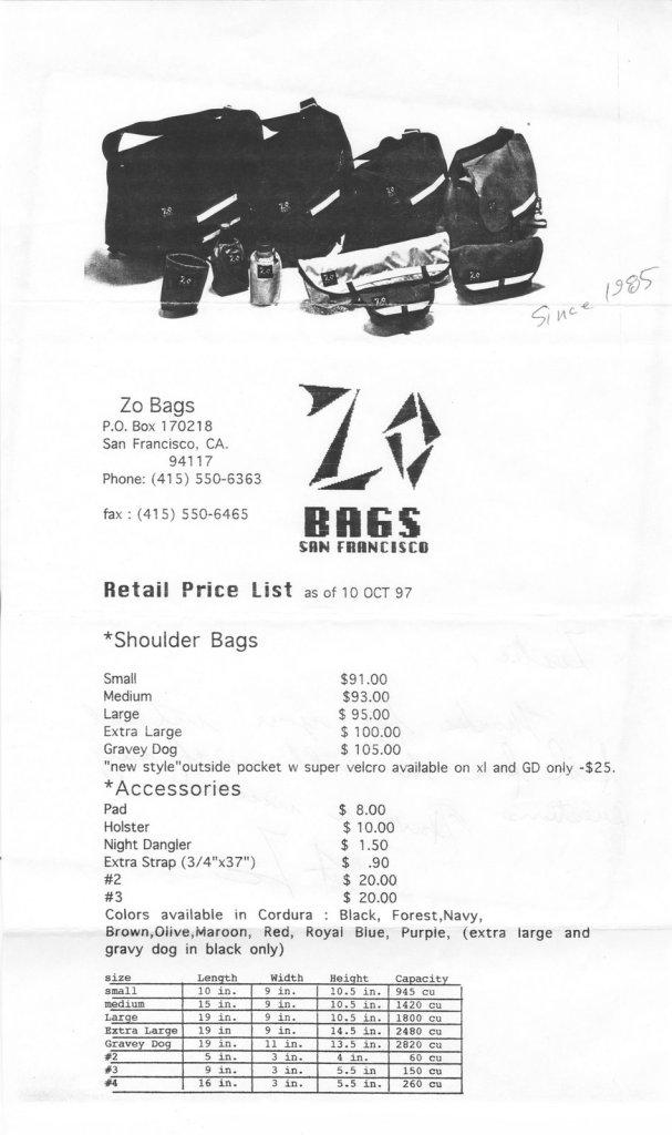Zo Bike Messenger bags