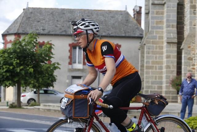 Lesli Larson riding Paris-Brest-Paris