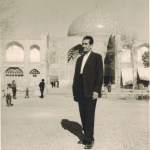 Tourist at Sheikh Lutfullah Mosque in Isfahan