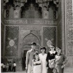 Photograph of Family in Front of the Imam Mosque in Isfahan