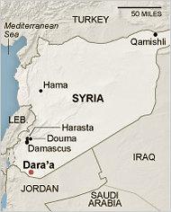 Syria Daraa map
