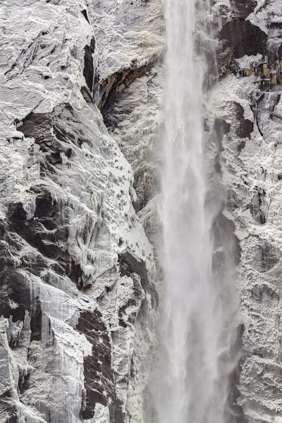 """""""Bridalveil Fall, Ice Patterns"""" by Mike Reeves"""