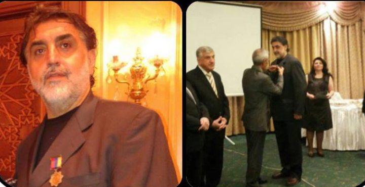 Դեսպան Փոլատեան Արմէն Ուրֆալեանին կը յանձնէ Հայաստանի սփիւռքի նախարարութեան Արշիլ Կորքի շքանշանը