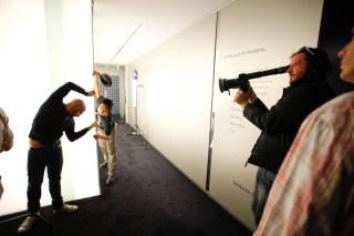 SDC Creative Director Rafael Bonachela and Tony Luu help block out the shot for Director Husein Alicajic