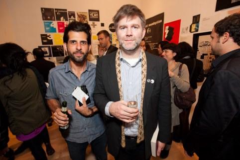 DFA art director Michael Vadino and LCD Soundsystem frontman James Murphy