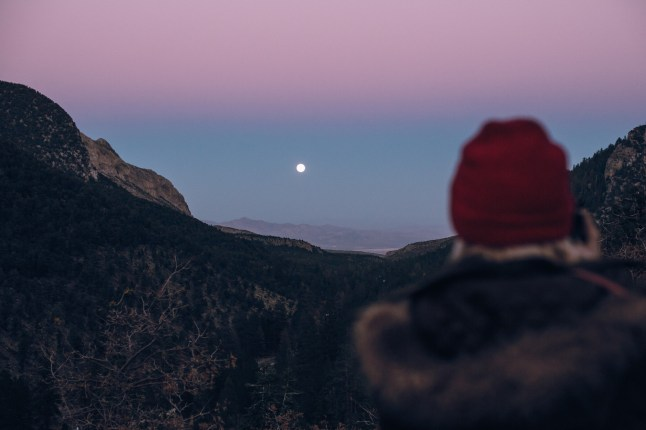 Moonrise on Mount Charleston