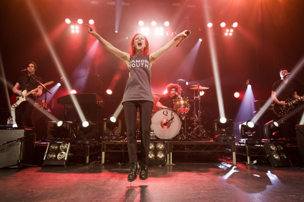 Paramore onstage at the Enmore Theatre Sydney