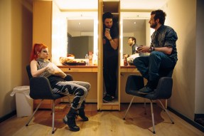 Paramore backstage at the Enmore Theatre. Eating cereal. Standing in closets. The usual.