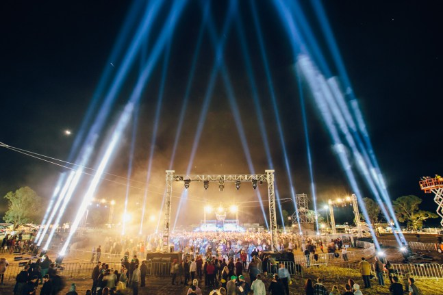 It was an impressive light show to match the huge illuminated dancefloor