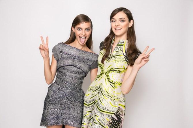 Prix de marie claire 2013 - J'Aton dress left, Josh Goot right