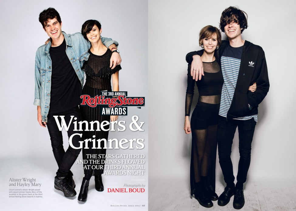 Al and Hayley recreate their photo from two years ago (on left)