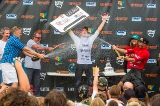 Surfest winner Matt Banting celebrates