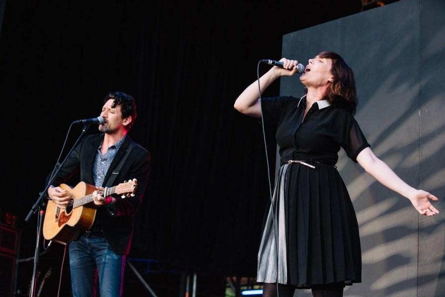: Paul Dempsey and Sarah Blasko - Triple J's Beat the Drum concert The Domain Sydney