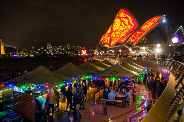 : Lighting of the Sails Sydney Opera House